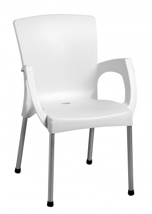 Cafe Arm Chair White
