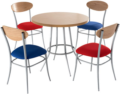 Cafe-round-canteen-table