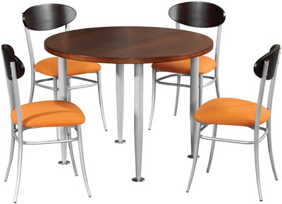 Canteen Round Table and Chairs