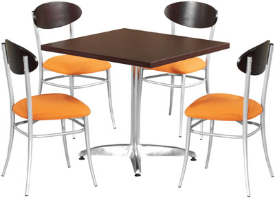 Canteen-sqaure-table-and-chairs
